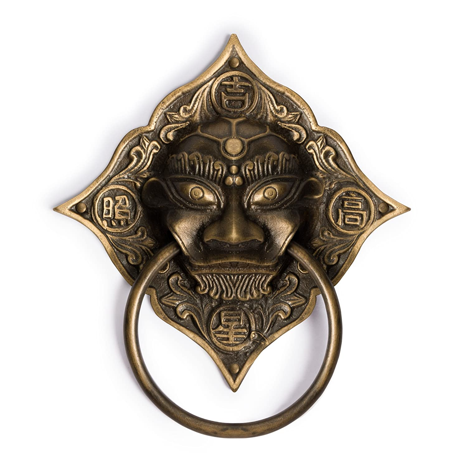 CBH Chinese Angry Lion Brass Door Gate Pull Hardware 7.5 Gate ...