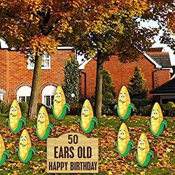 VictoryStore Yard Sign Outdoor Lawn Decorations Birthday Cards 50 Ears Old Happy
