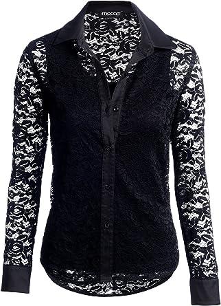 Mocca by J.L. - Camisas - para mujer negro 40: Amazon.es: Ropa y accesorios