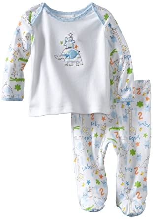 61704d34ac49 Amazon.com  Disney Baby Boys  Newborn Two Piece Footed Pant Set ...