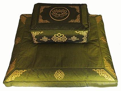 Amazon.com : Boon Decor Meditation Cushion Set Rectangular Zafu ...