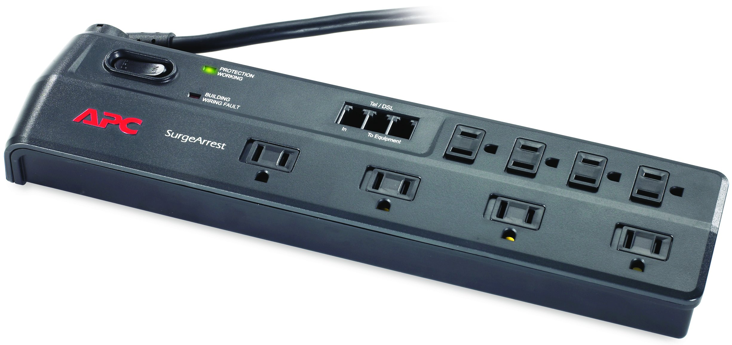 Apc Outlet Surge Protector With Telephone  Dsl And Coaxial