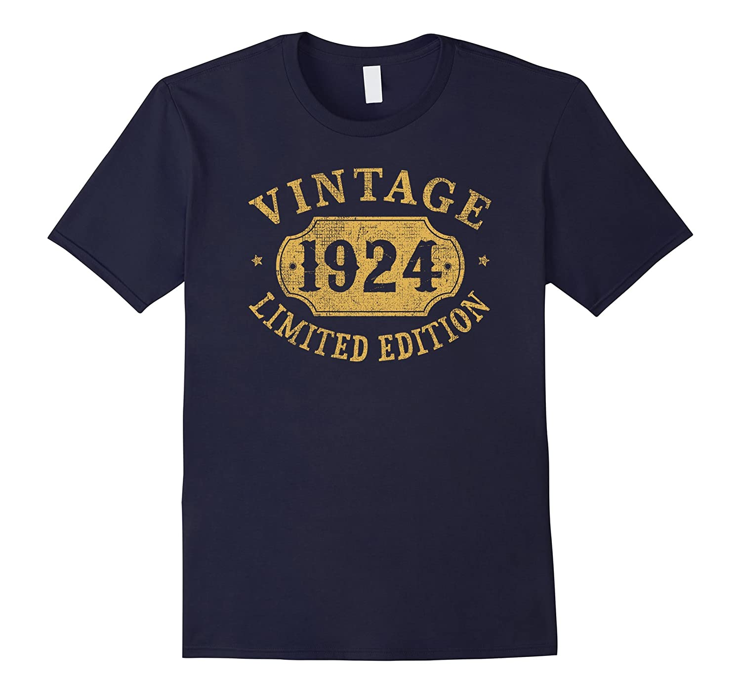 1924 93 years old 93rd B-day Limited Birthday Gift T-Shirt-PL