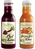 Beet & Ginger Gold Kvass Sampler, Organic, Raw, Fermented, Probiotic, 12 Fl Oz