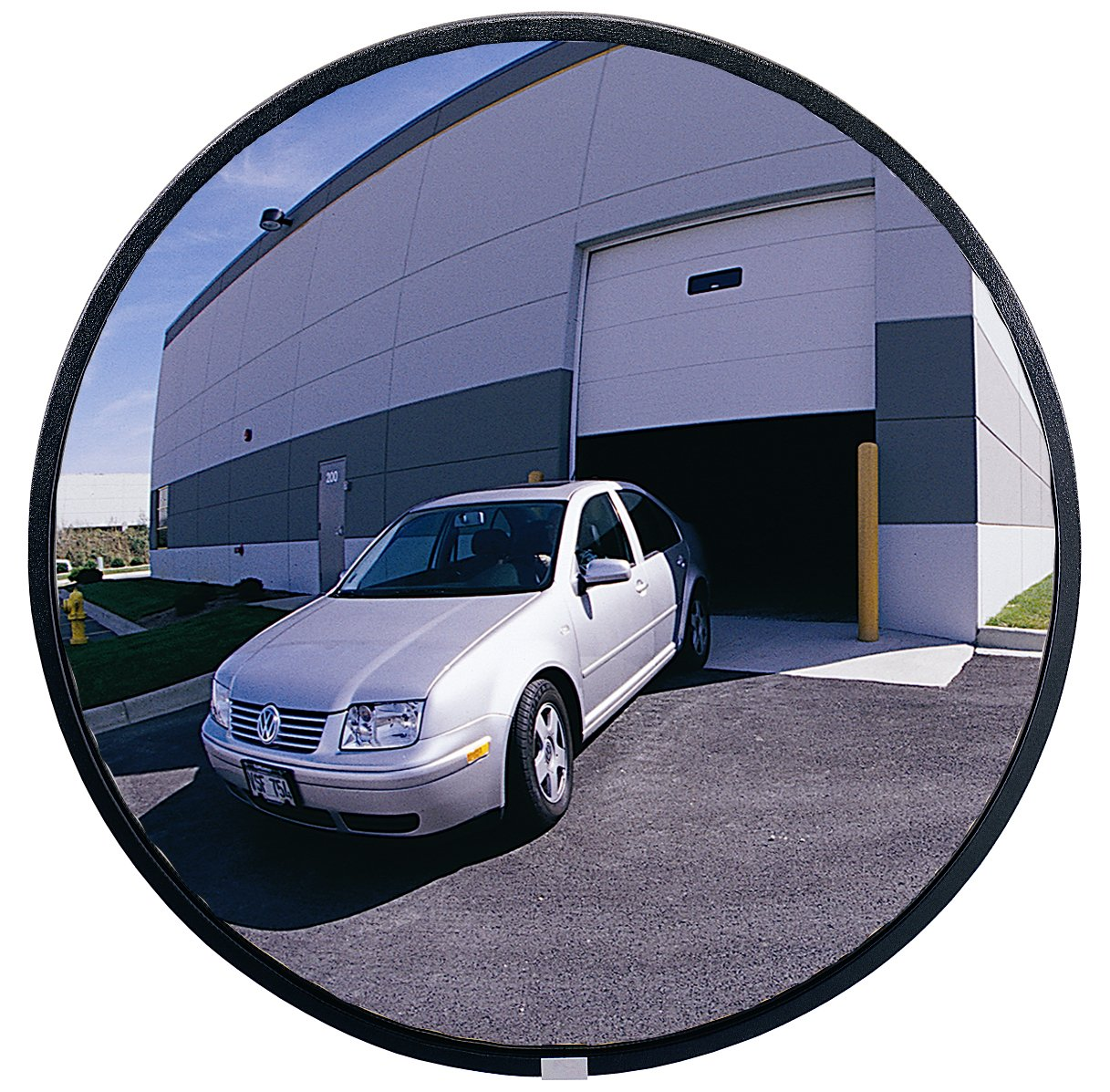 See All PLXO18 Circular Acrylic Heavy Duty Outdoor Convex Security Mirror, 18'' Diameter (Pack of 1)