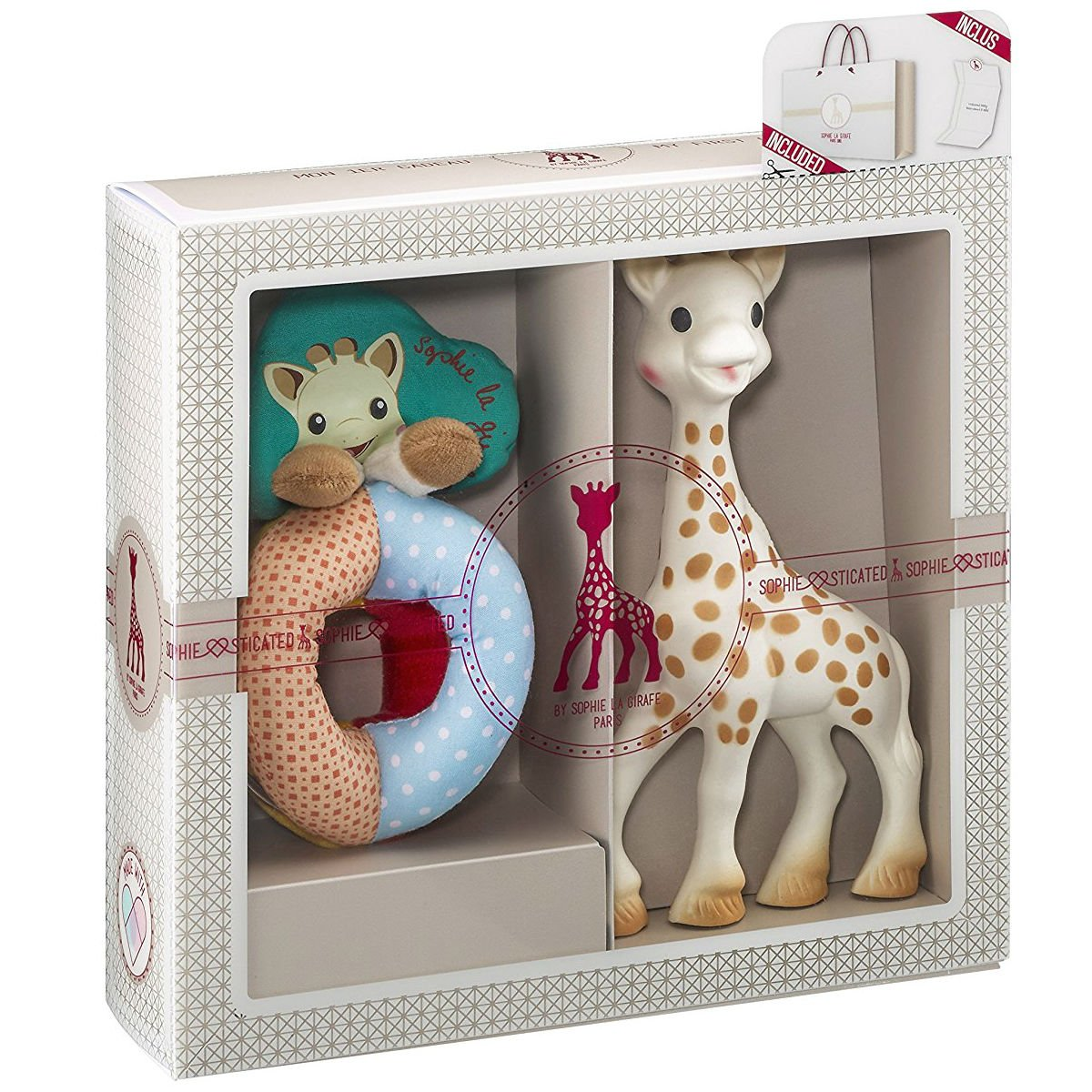 Vulli Sophie la Giraffe Sophiesticated Tenderness Creation Birth Set Small #2 - Rattle and Teether by Sophie La Girafe