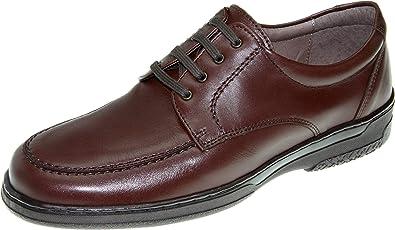 Zapato Anchos de Piel para Hombre. Cómodos y Transpirables 24 ...