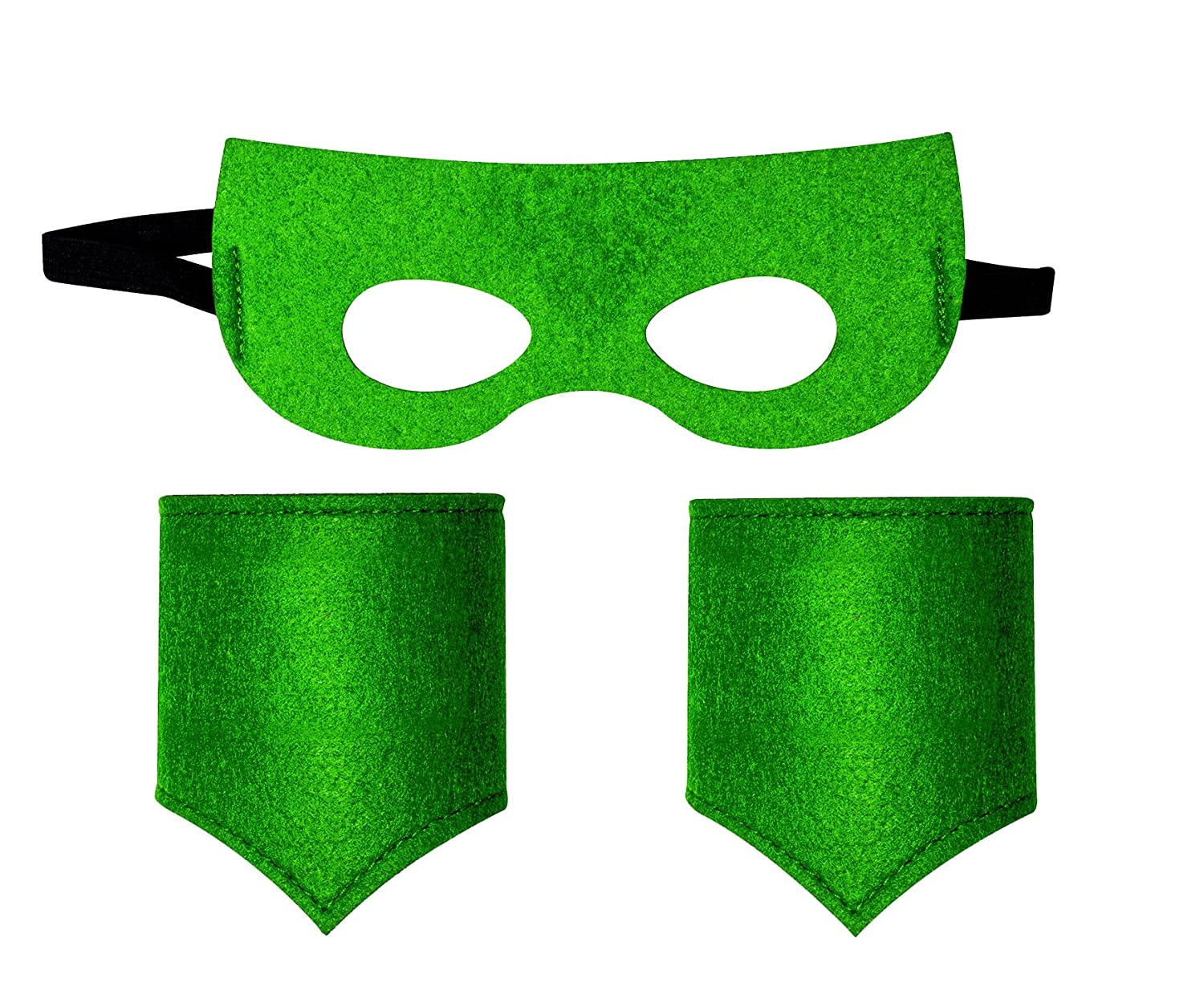 Children's Superhero mask and Cuff Solid Color Set