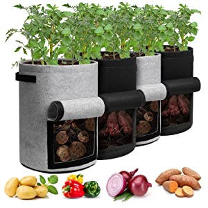Homyhoo Potato Grow Bags with Flap