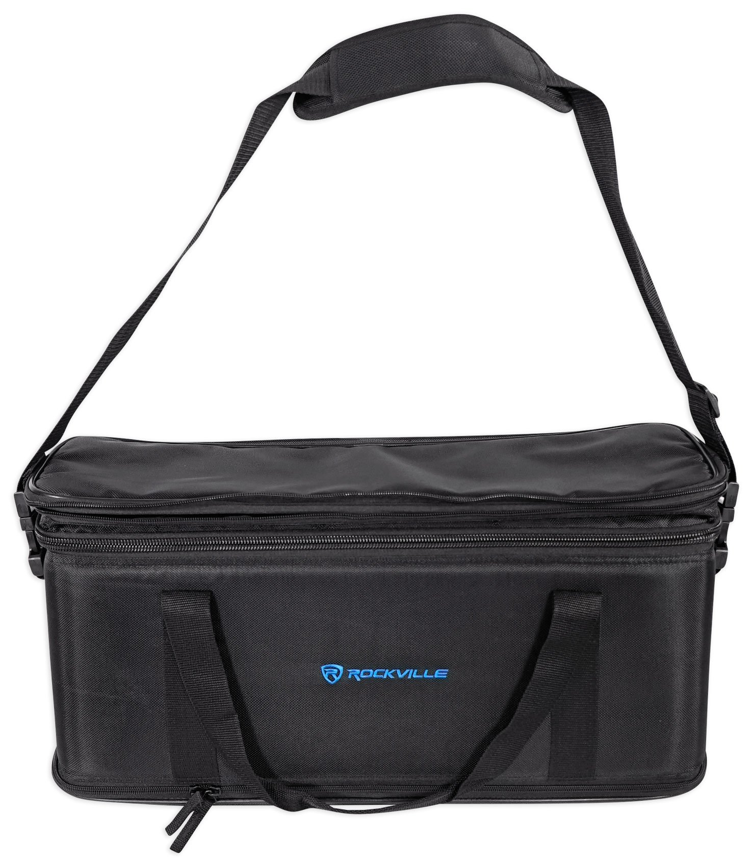 Rockville 3U Rack Bag Double-Sided Case with 12'' Depth + Shoulder Strap (RRB30)