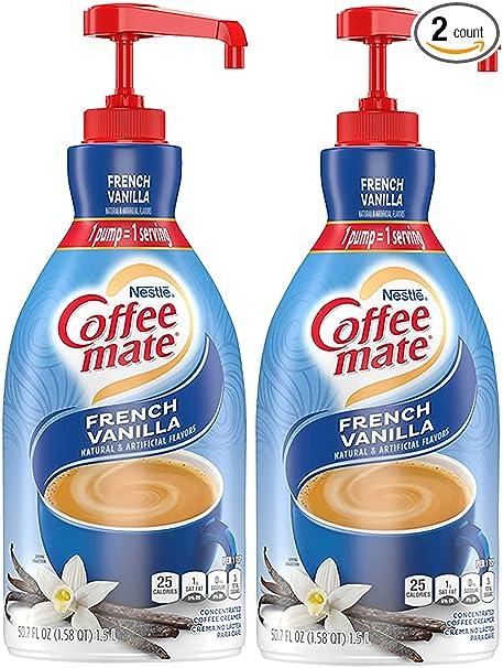 Nestle Coffee-mate Coffee Creamer, French Vanilla, 50.7 Fl. Oz (Pack of 2)