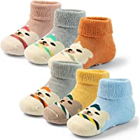 Baby Non Slip Socks Boys Thick Winter Warm Socks With Grips For Baby Girls Terry Socks