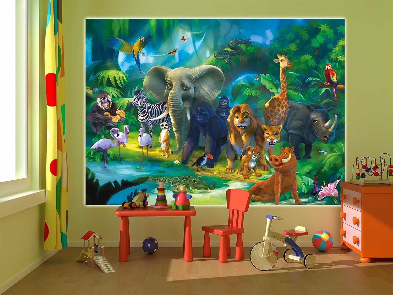 Fototapete safari wand dekoration   wandbild dschungel poster ...