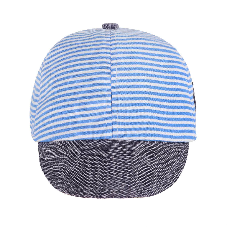 Baby Boys Girls Denim Blue Star Pattern Sunhat Bucket Hat Travel Beach Cap 3-10M