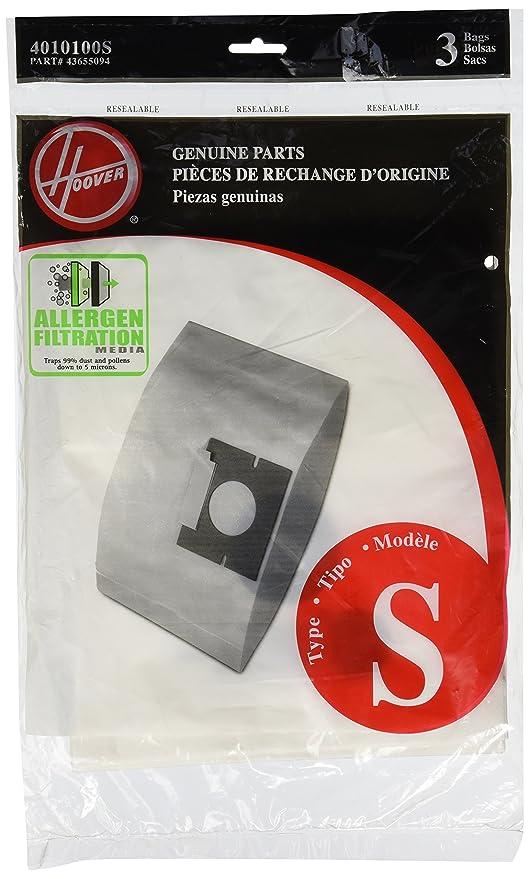 Hoover 4010100S Type S Allergen Bag - 3 Pack