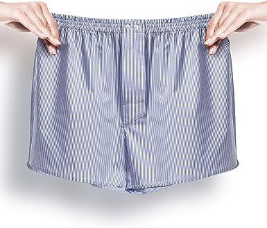 Socksieté Boxer de hombre Popelina 100% algodón Righe bianco-azzurre XX-Large: Amazon.es: Ropa y accesorios