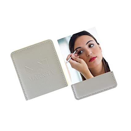 8d0a46a85f06 MARKHA Compact Small Unbreakable Travel Mirror for Pocket Purse & Wallet  for Men & Women (Grey)