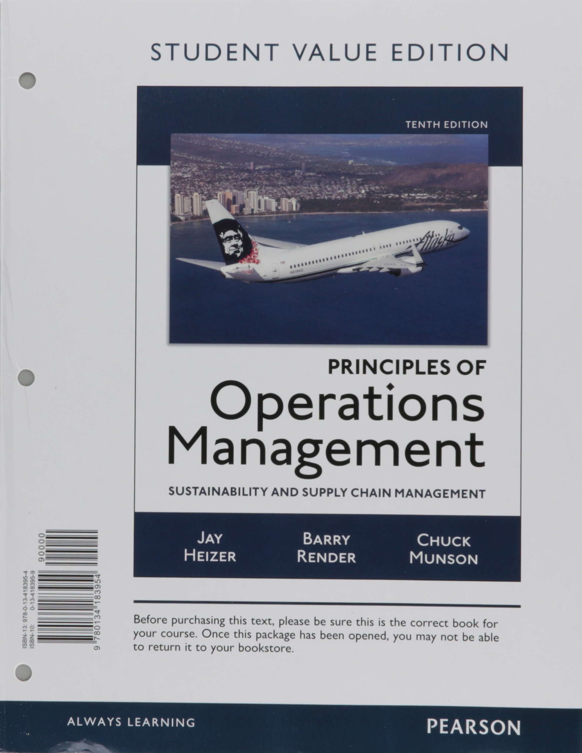 Principles of Operations Management: Sustainability and