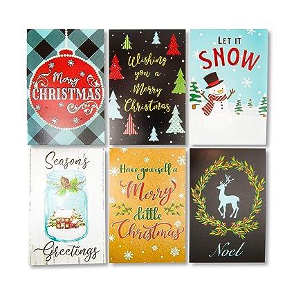 Tarjetas postales navideñas de 10 x 15 cm, paquete de 96: Amazon ...