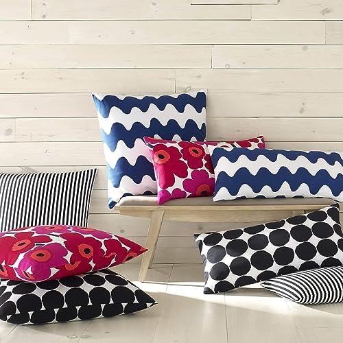Marimekko Pienet Kivet Square Pillow, 26×26, Black
