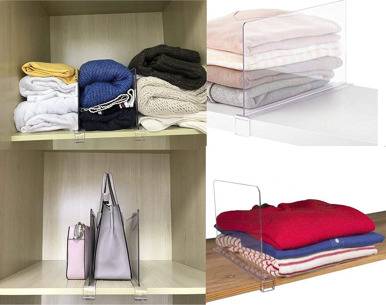 Closet Organizer for Handbags Purses Shirts Acrylic Shelf Dividers for Shelves