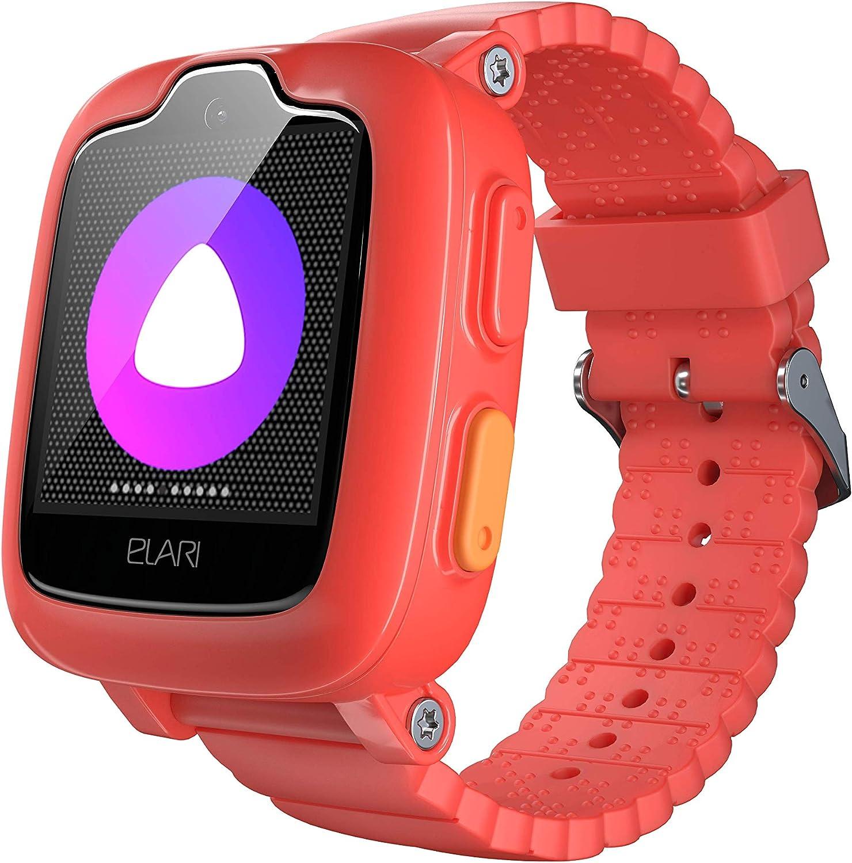 Elari Kids Smart Watch 3G El Mejor Reloj para niños con rastreador GPS (GPS/LBS/WiFi Tracker) Relojes Inteligentes con función de videochat, GPS/LBS/WiFi Tracker y botón SOS, Rojo