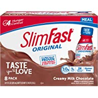 SlimFast Original Creamy Milk Chocolate Shake – Ready to Drink Weight Loss Meal Replacement – 10g Protein – 11 Fl. Oz…