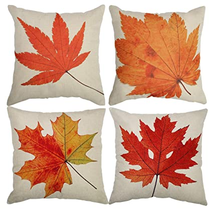 "Tool Gadget Throw Pillow Covers, Autumn Leaves Cushion Cover, Fall Decorations Couch Pillow Cases, Cotton Linen Fall Decor, 18""x18"" for Sofa Couch Bed and Car best autumn throw pillows"
