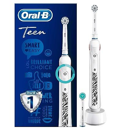 Oral-B SmartSeries Teen Girls Sensi Ultrathin - Cepillo eléctrico recargable con tecnología de braun, 1 mango, 3 modos incluyendo blanqueado y ...