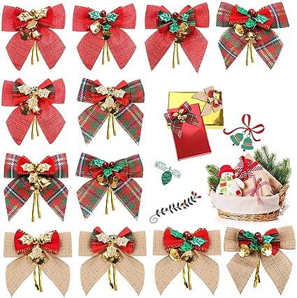 Grand lot de 3 Argent Noël Arcs arbre decor Guirlande Couronne de décorations pour arbres