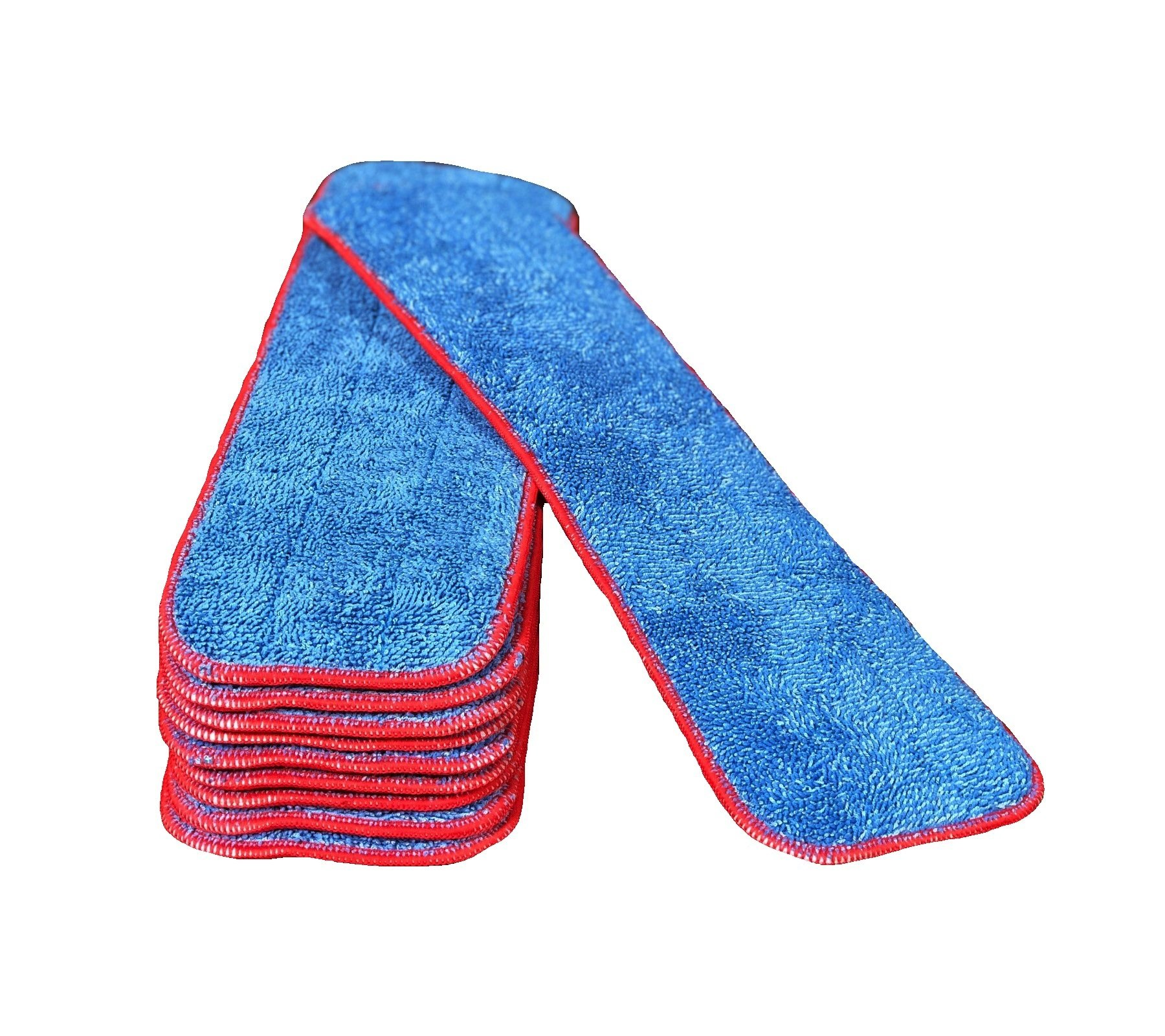 18'' Inch Microfiber Mop Pad Refills Fits 16 to 18 Inch Mop Frames Wet & Dry Use Commercial Microfiber (10 Pack)