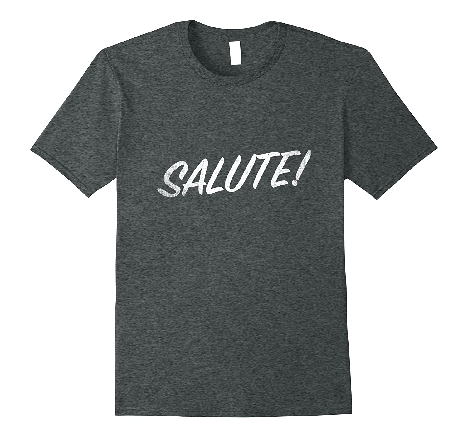 Distressed White Salute T-Shirt-TD