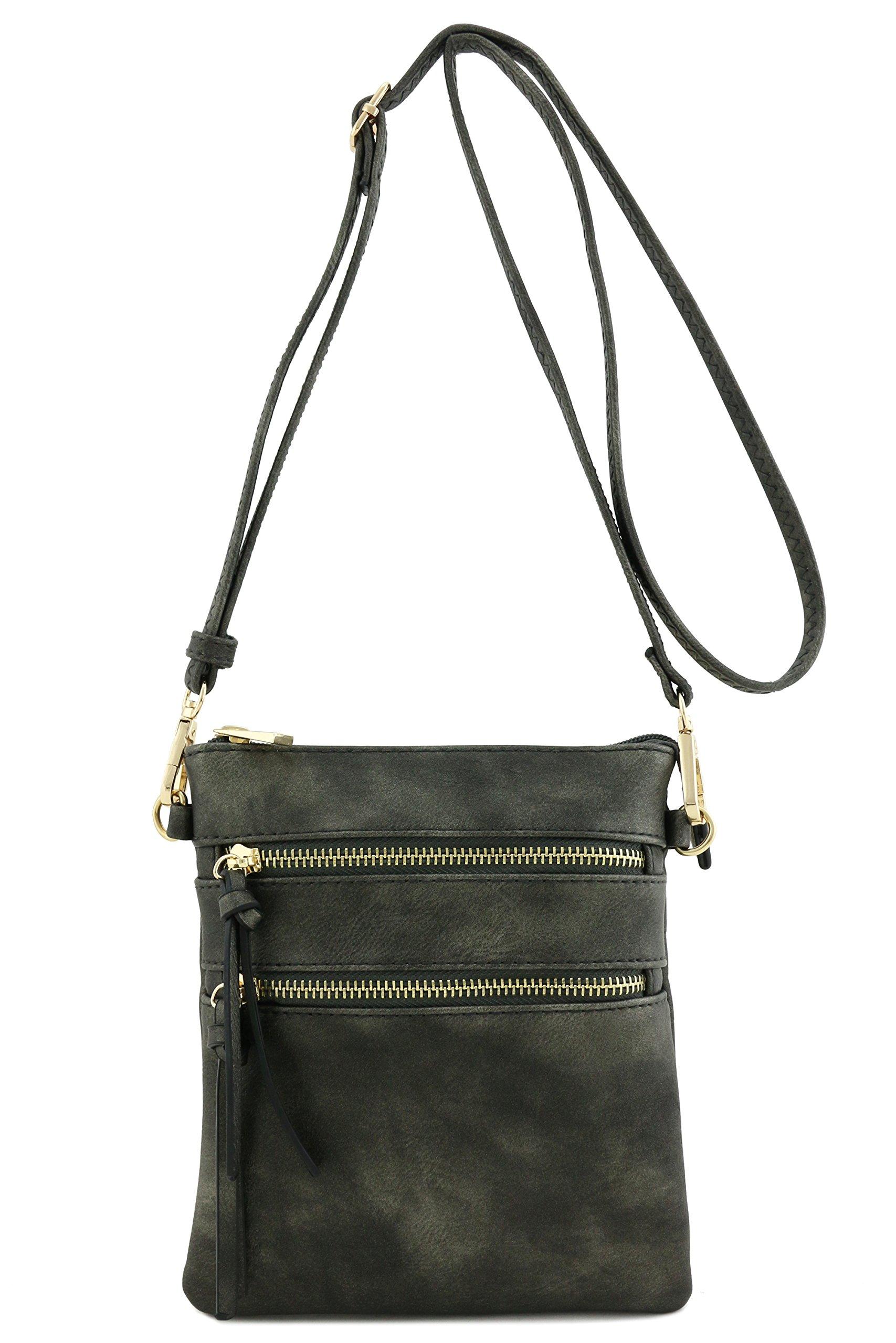 Functional Multi Pocket Crossbody Bag (Black Pearl)