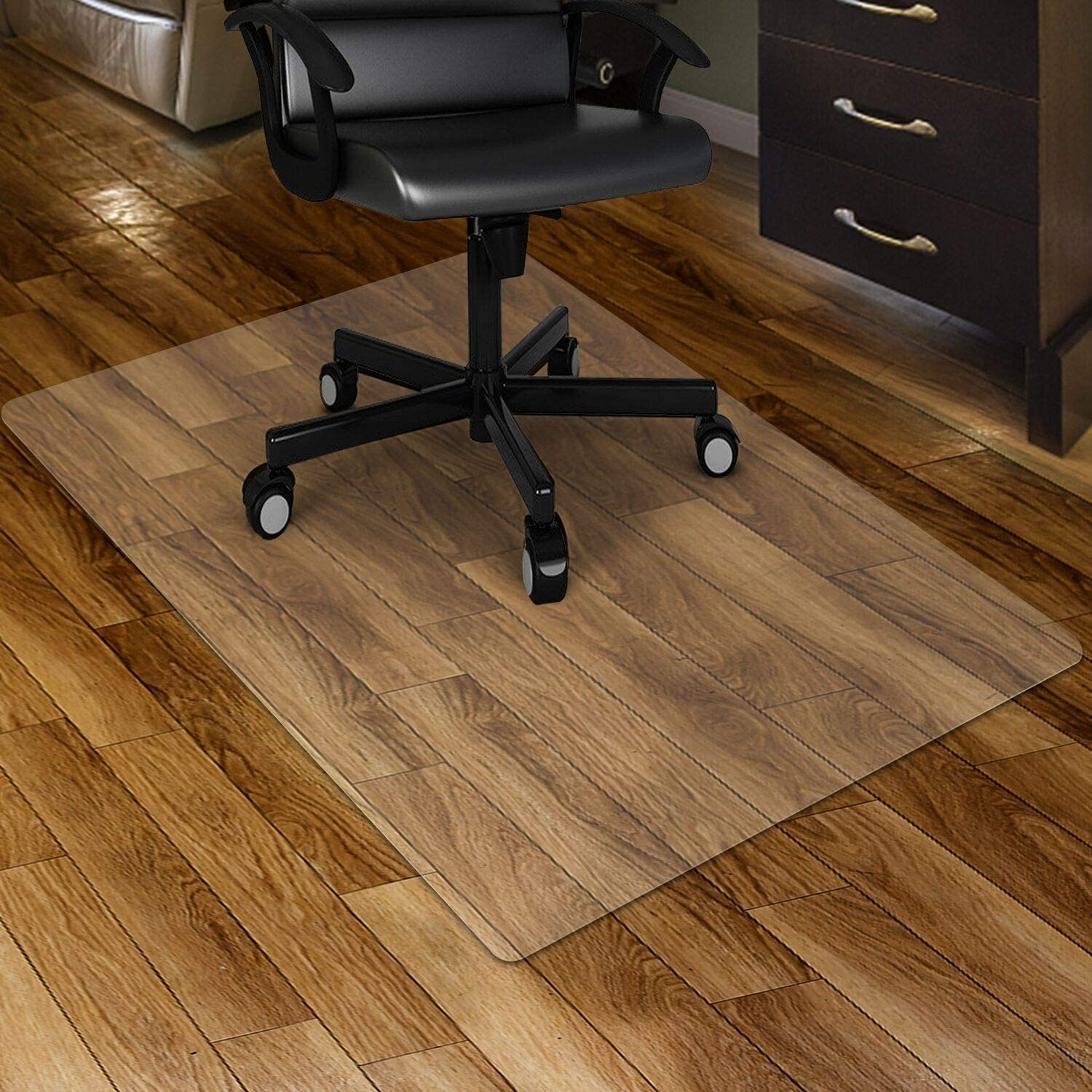 "Kuyal Clear Chair mat for Hard Floors 30 x 48 inches Transparent Floor Mats Wood/Tile Protection Mat for Office & Home (30"" X 48"" Rectangle)"