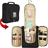Hanging Toiletry Bag | Waterproof - Toiletry Bag | Travel Toiletry Bag-Women-Men | With Unique Drawstring Backpack | Great as a GlFT | Toiletry Bag For Women | Cosmetic Travel Bag & Brush Holder