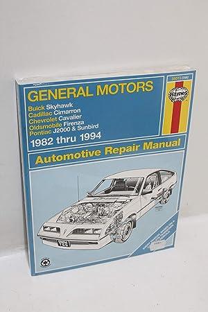 Amazon Com Haynes Repair Manual For Buick Skyhawk Cadillac Cimarron Chevrolet Cavalier Olds Firenza Pontiac J2000 Sunbird 1982 1994 Automotive
