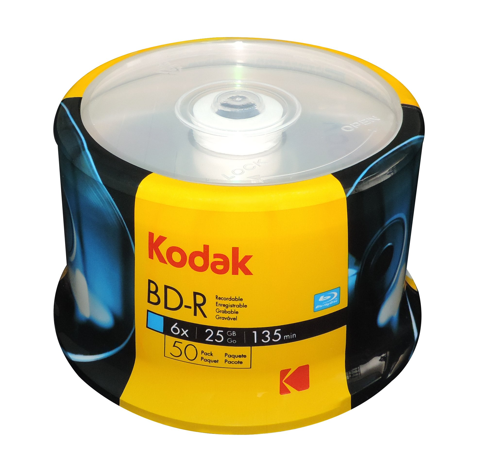 KODAK BD-R 6x 25GB 50-Pack Cakebox