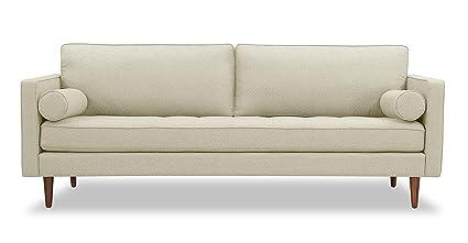 Prime Amazon Com Kardiel Elle Mid Century Modern Sofa White Onthecornerstone Fun Painted Chair Ideas Images Onthecornerstoneorg
