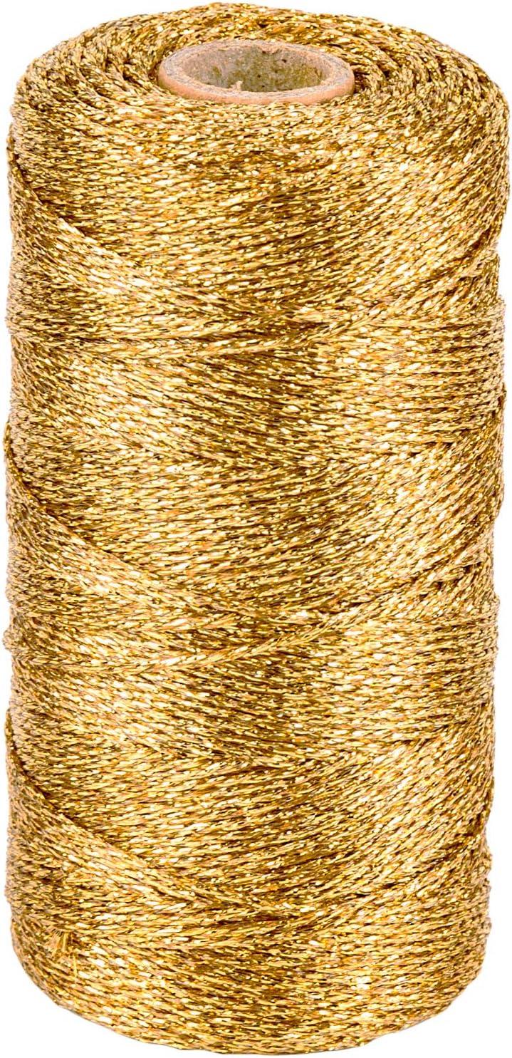 loisirs cr/éatifs ou emballage cadeau rose gold Ipalmay Bobine de ficelle m/étallique de boulanger 100/m Triple /épaisseur pour bricolage
