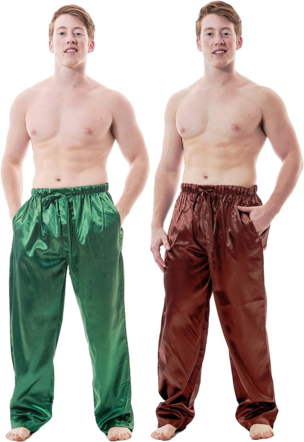 Up2date Fashion Men's Satin Lounge Pants Combo Pack