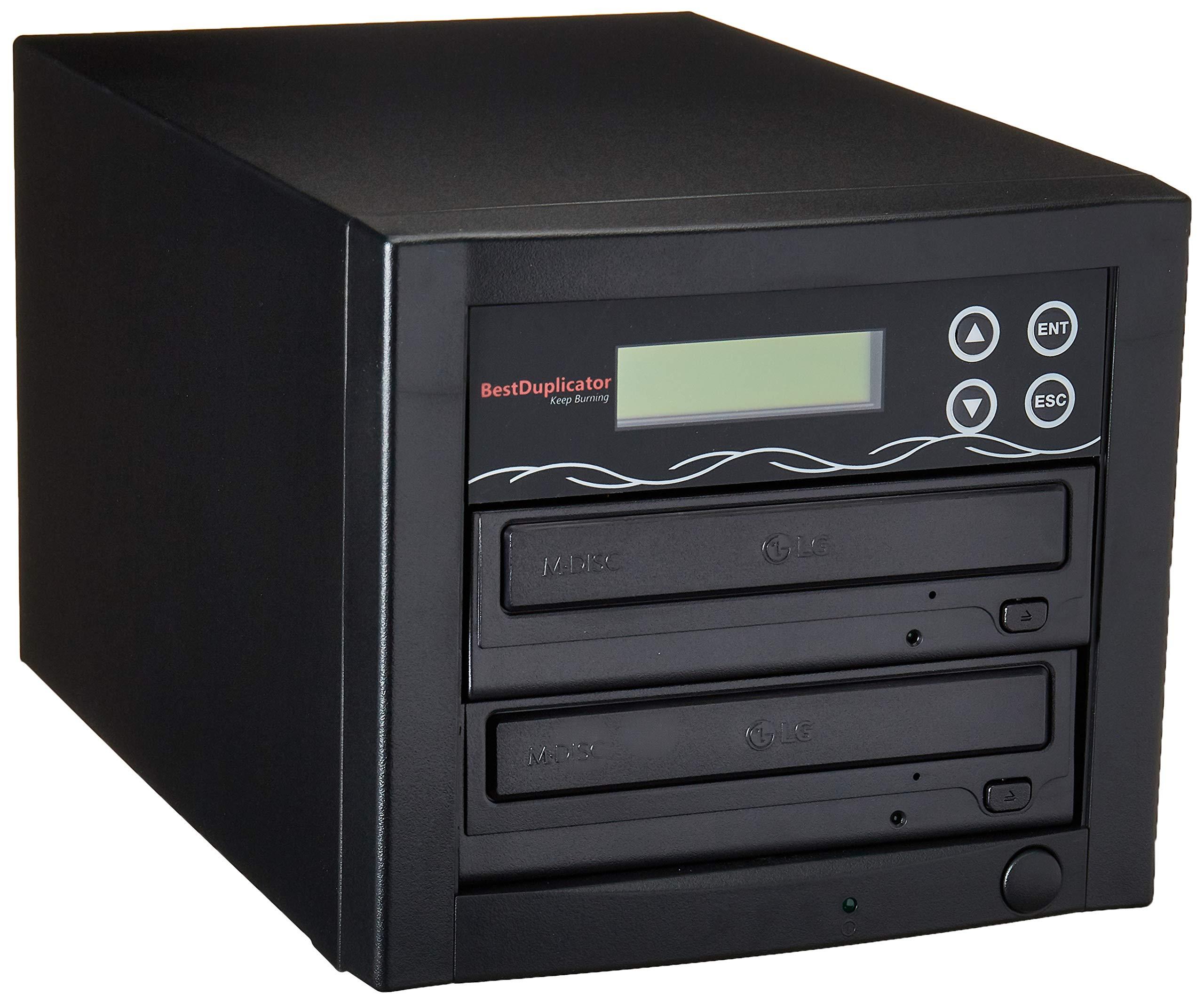 Bestduplicator BD-SMG-1T 1 Target 24x SATA DVD Duplicator with Built-In M-Disc Support Burner (1 to 1)