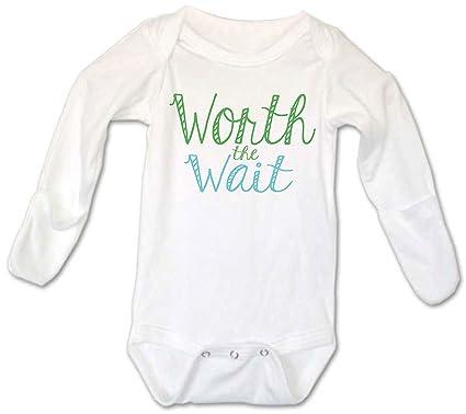 b5dcf5f38 Amazon.com  Worth the Wait Baby Boy Long Sleeve Onesie 0-3 Months ...