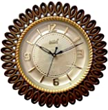 LYONIC Beautiful Active Quartz Rose Gold Wall Clock, 29cm X 29cm Antique Look for Office/Home/Living Room(Brown/Golden) (Together One Battery Free)(100% Made in India)