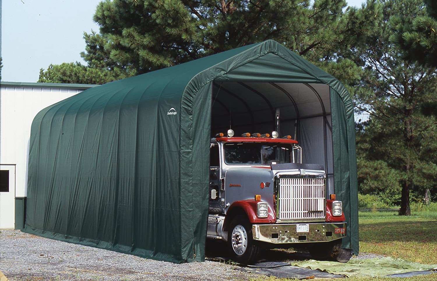 Amazon Com Shelterlogic 14 X 40 X 16 Ft Peak Style Boat Rv Canopy