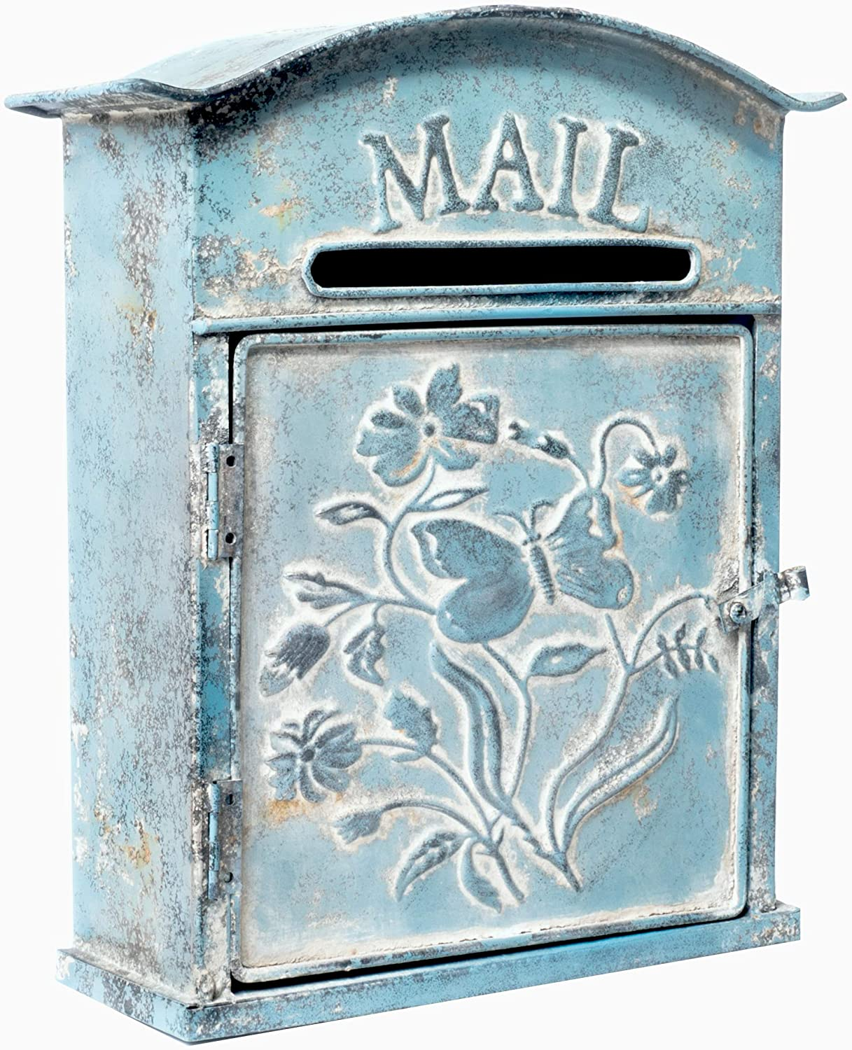 Red Post Box with Bird and Holly Farmhouse Metal Post Box Vintage Metal Mailbox Rustic Metal Mailbox-Home Metal Post Box-Etsy Post Box