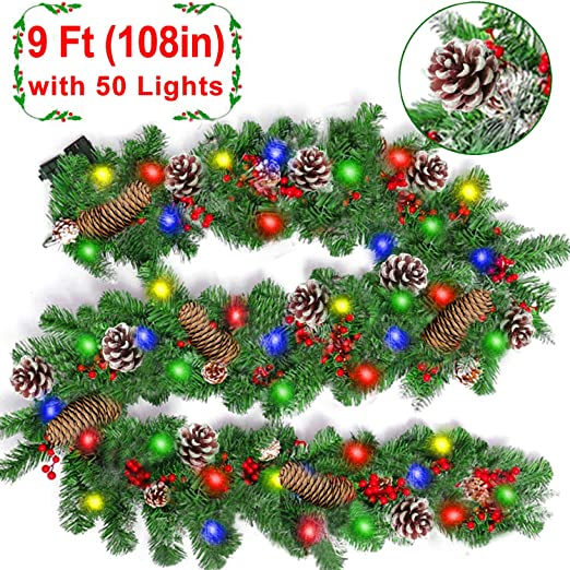 Xmas Tree Ornament Decoration Home Party Holiday Christmas Ribbon Garland WT