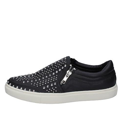 e42cb6baf9f Steve Madden Fashion-Sneakers Womens Leather Black  Amazon.co.uk ...