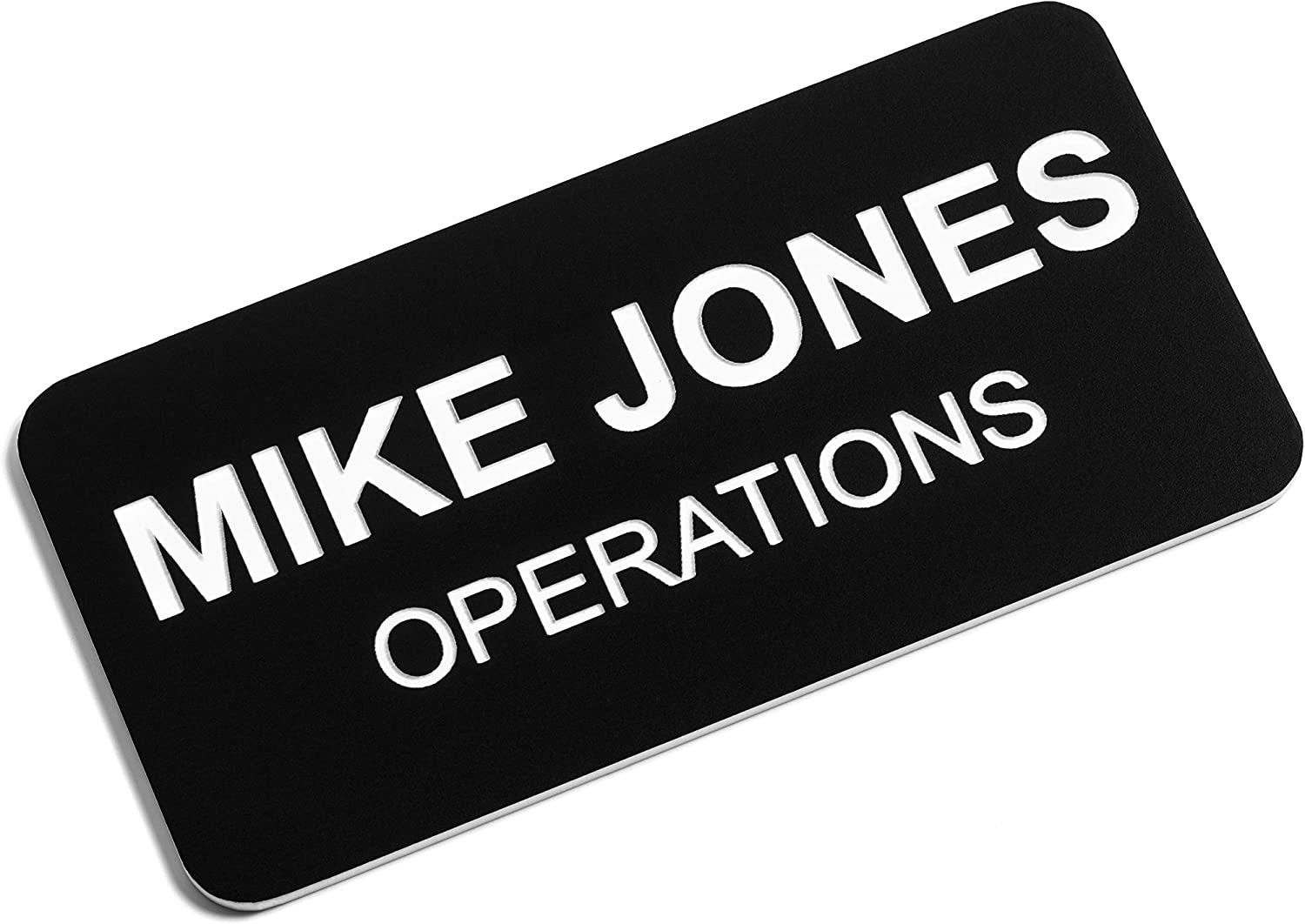Pin Classic Oval Collection by My Sign Center Personalized Name Tag Choice of Colors Laser Engraved Magnetic or Adhesive Backing 1 X 3