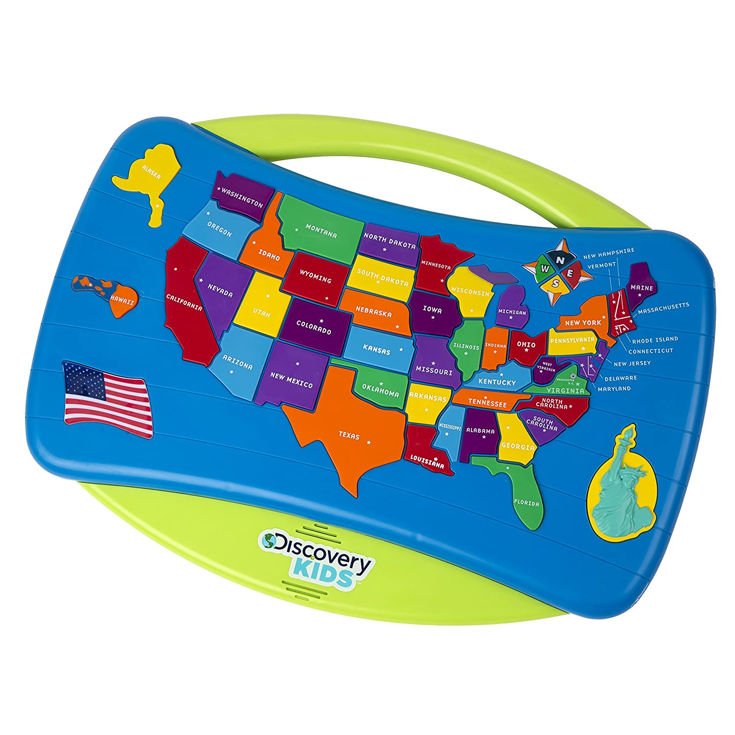 Amazoncom Discovery Kids Talking USA Puzzle Toys  Games - Interactive map of usa game