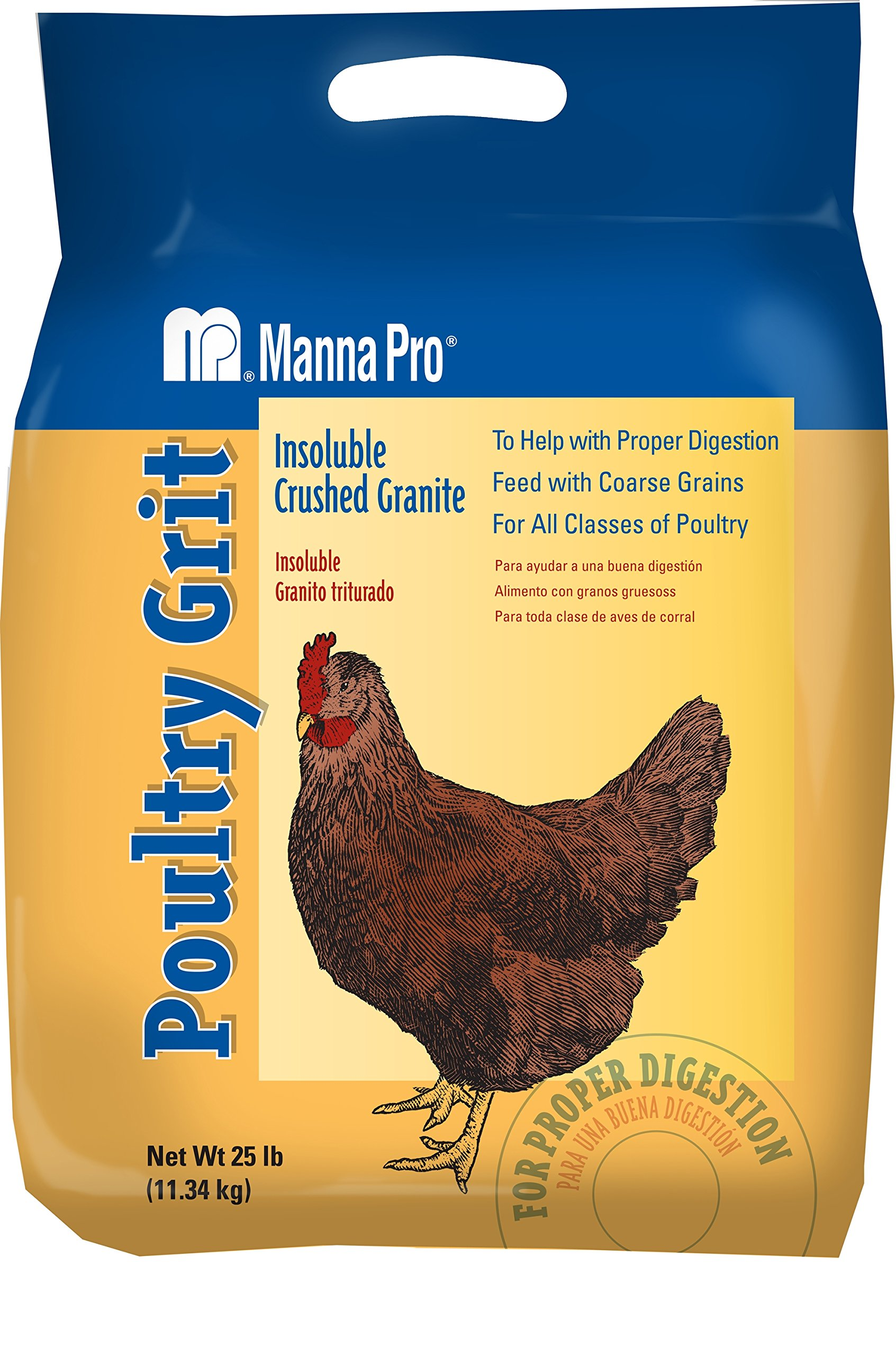 Manna Pro Poultry Grit | Insoluble Crushed Granite | 25 Pounds by Manna Pro
